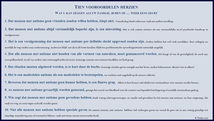 Tien vooroordelen herzien tistje