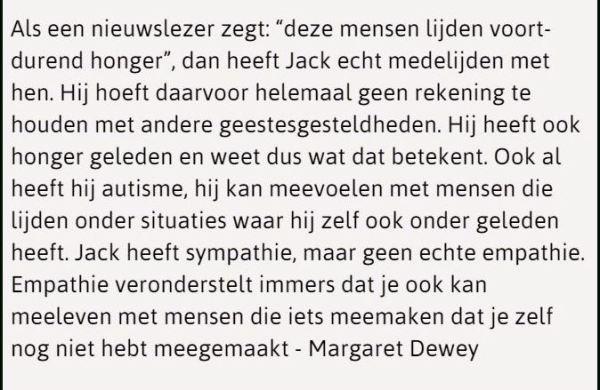 Sympathie is nog geen empathie - Margaret Dewey over het verschil hiertussen
