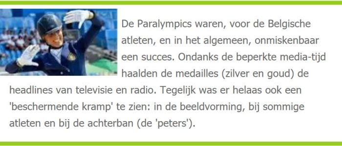 Samenvatting van het artikel over de Paralympics dat is verschenen op Handiwatch
