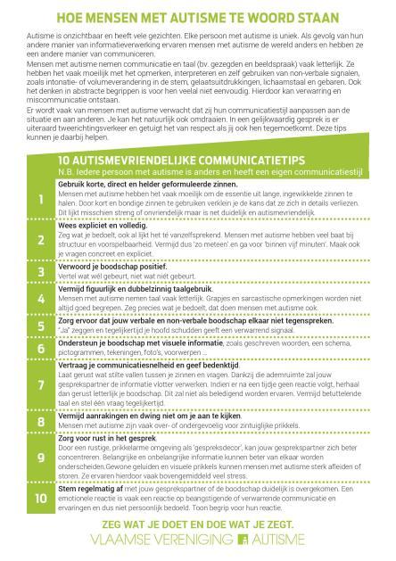 Communicatietips autisme