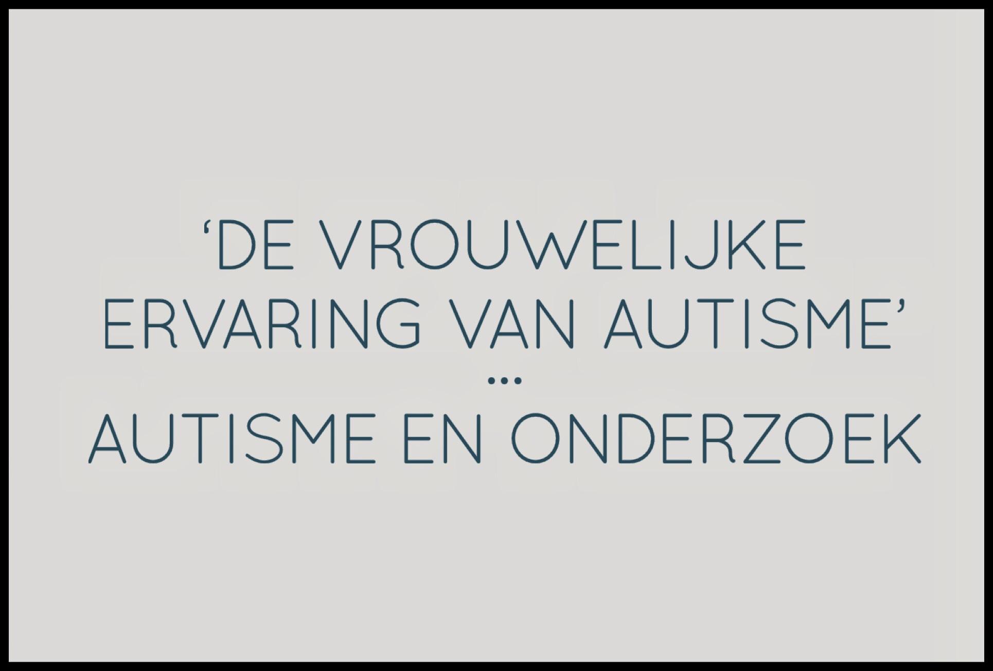 vrouwelijk autisme