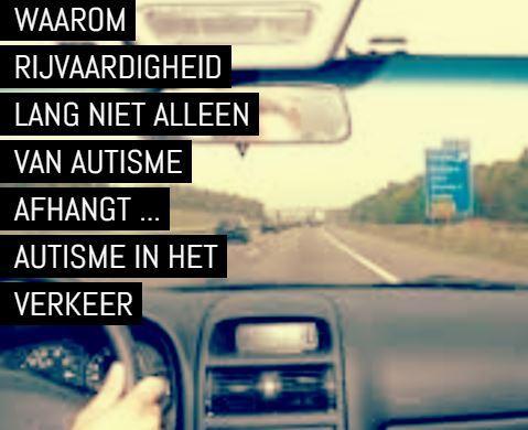 autisme in het verkeer - kijk op het dashboard van een auto